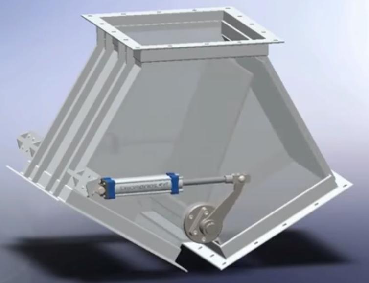 双向分流闸阀的设计结构