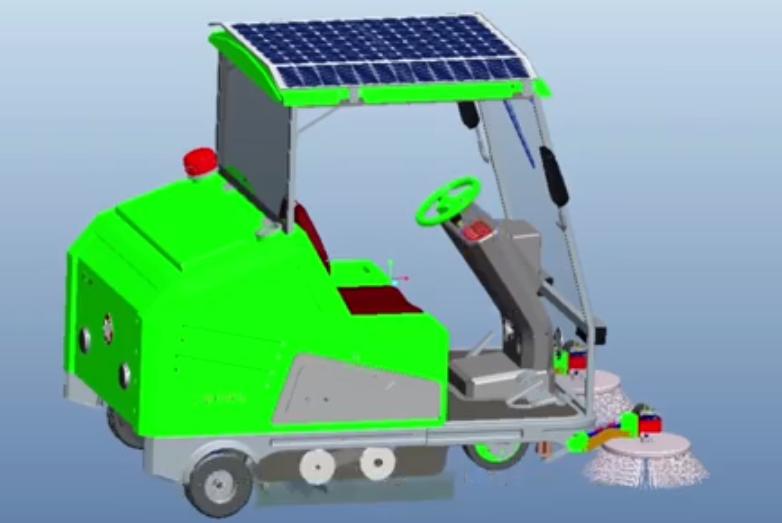 太阳能清扫车