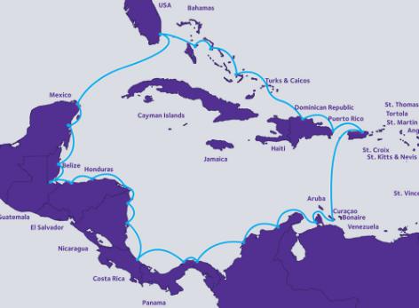 ARCOS-1海底光缆系统将登陆古巴