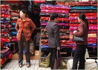 中国轻纺城市场营销回缩,价格指数下跌