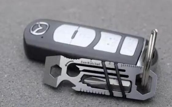 小身形大用处:钥匙大小的工具,承重达40斤,拧螺丝、切割无所不能