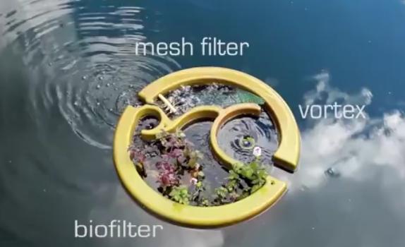 """把这个""""盆栽""""也是过滤器,往泳池里一丢, 污水可变清水"""