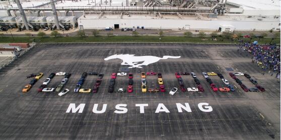 福特野马诞生50周年 庆祝第1000万辆野马成功下线