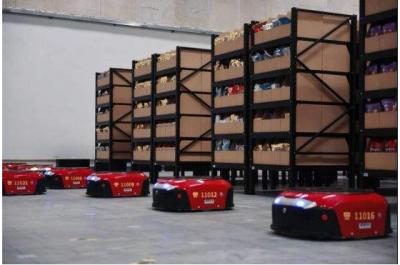 国美正式宣布在广州与天津两地同时开启AGV机器人仓