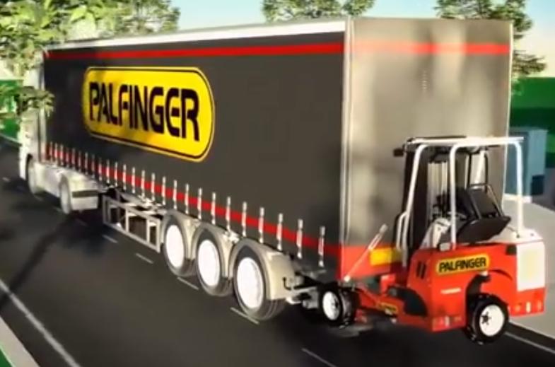 德国人发明可以悬挂在货车上的叉车, 安装只需一分钟