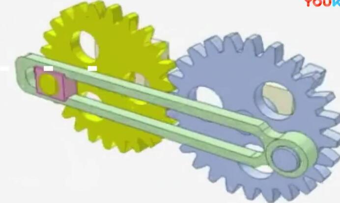 机械小知识:齿轮和连杆的巧妙组合