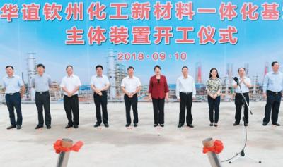 总投资700亿!华谊钦州化工新材料一体化基地主体装置开工建设