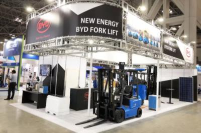 比亚迪叉车:新能源物流搬运产品惊艳日本国际物流综合展