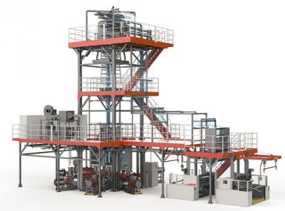 金明精机拿下250万美元订单,多层共挤高阻隔薄吹膜机获外商认可