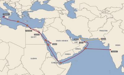 埃及电信宣布其子公司埃及国际海底电缆已完成对MENA海底光缆的收购