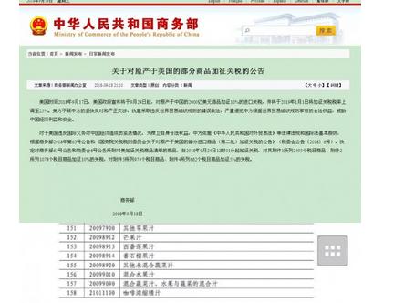 中国对美贸易反制裁,美国酒在中国的综合税负额外提高32.5%!