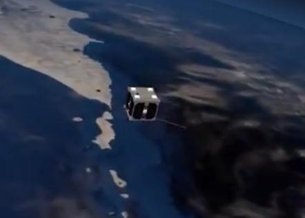 世界最小卫星仅重64克, 太空飞行4小时, 带有8个传感器