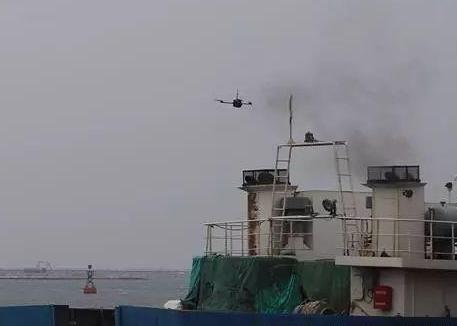 潍坊海事局开展无人机船舶尾气遥测试验