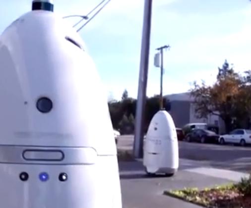 能分辨好坏的智能机器人保安, 装备各种传感器, 已在美国多地使用