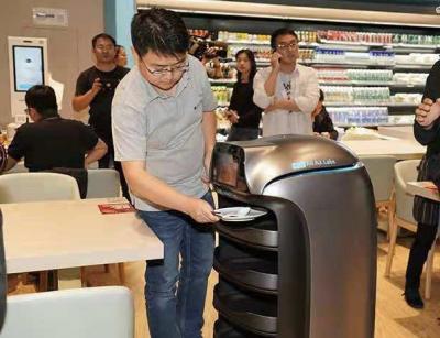 马云又一力作!上海全智能餐厅由机器人收餐开业