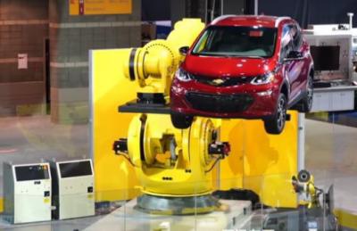 美国FANUC自动化机械臂 可满足未来公共充电需求