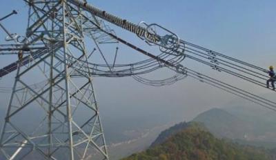 世界电压等级最高的输电工程±1100千伏特高压直流工程双极低端正式运行