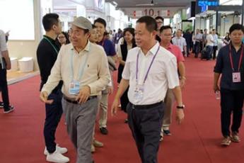 碧桂园董事局主席杨国强一行到访惠达卫浴广交会展馆交流