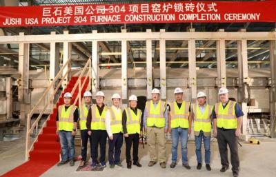 中国巨石美国年产8万吨池窑拉丝玻纤生产线窑炉锁砖