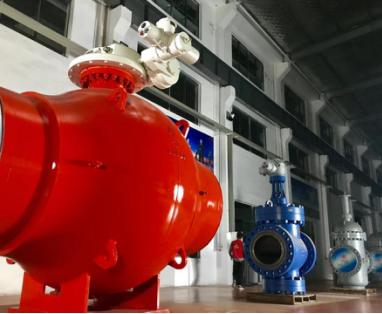江苏苏盐阀门自研56寸900磅全焊接管线球阀已研制成功即将量产