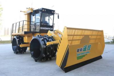 国机重工首台智能遥控垃圾压实机进驻豫北 助力国内首个智能垃圾填埋场