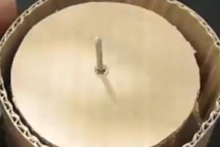 牛人自制纸型面粉机