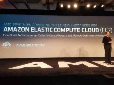 AMD宣称亚马逊将使用其服务器芯片,7纳米芯片现突破