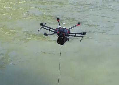 启飞应用环境监测取水无人机