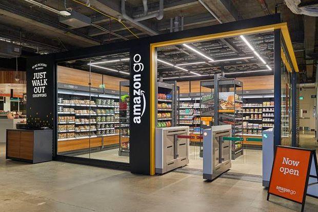 亚马逊开40平迷你无人收银商店,比标准的Amazon Go商店要小得多