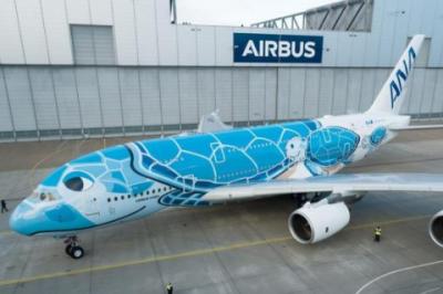 全日空航空公司首架空客A380完成特殊涂装出厂