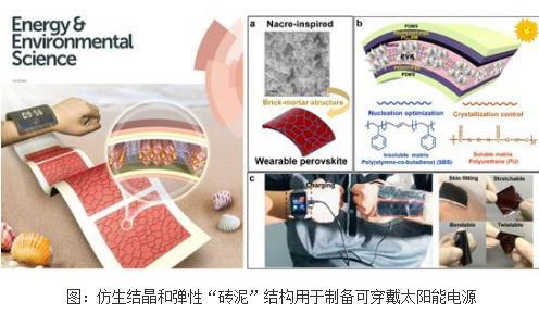"""仿生结晶和弹性""""砖泥""""结构用于制备可穿戴太阳能电源"""