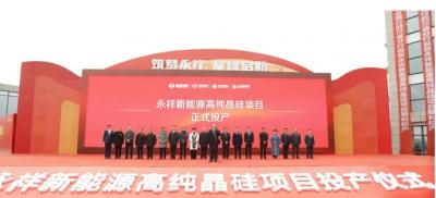 永祥新能源高纯晶硅项目在乐山顺利投产