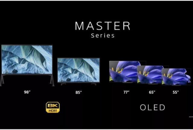 索尼8K 98英寸巨屏电视亮相CES2019 视觉效果震撼!