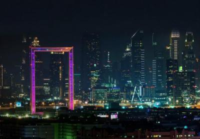 昕诺飞洗墙灯等照明产品成功点亮世界最大相框——迪拜之框