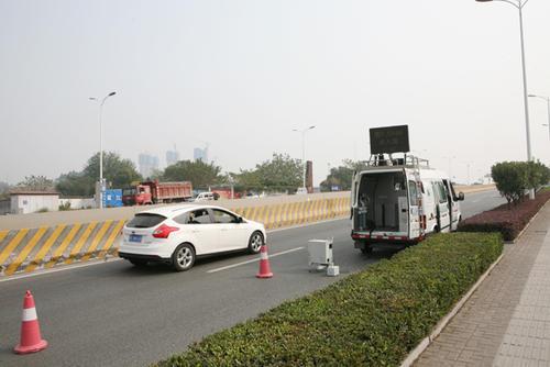 长沙机动车污染固定式遥感监测设备已全面安装调试完毕启用