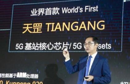 华为天罡芯片发布 全球首款5G基站核心芯片