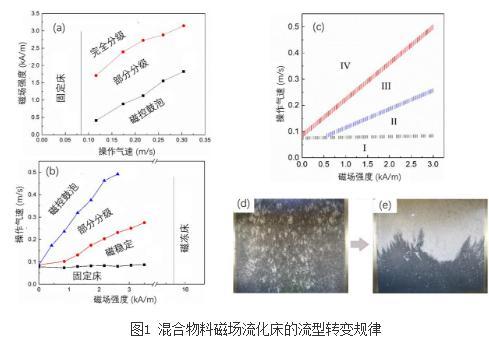 磁场流化床反应器的流型及转变规律