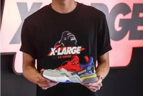 x-large联名款启程001,李宁史上的首双运动鞋!