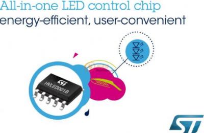 意法半导体推出新款LED照明控制器HVLED001B