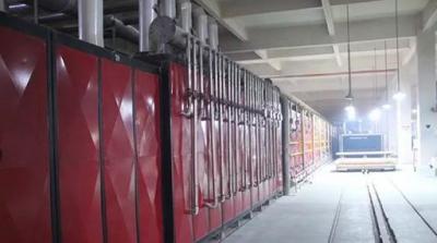 汉舍卫浴二号隧道窑点火仪式在第二分厂隆重举行