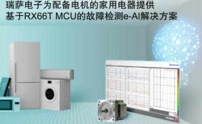 瑞萨电子推出针对家用电器电机 e-AI 故障检测解决方案
