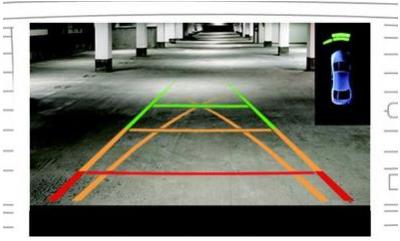 图解如何看倒车影像线倒车?倒车影像多少钱一个?