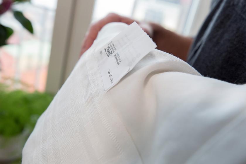 宜家GUNRID窗帘可与自然光接触时分解空气污染物 类似光合作用