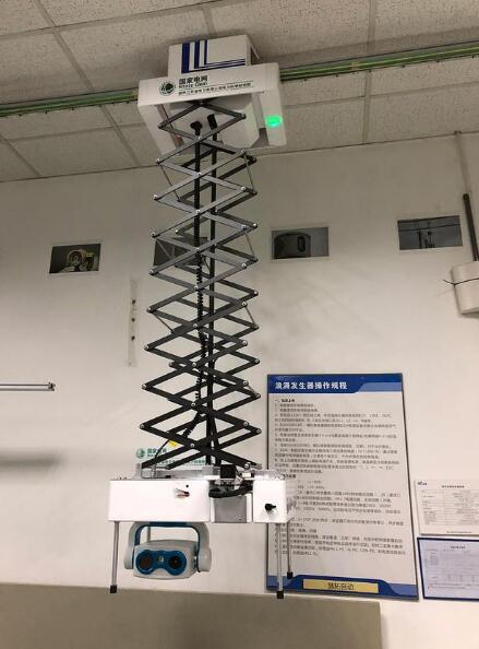 国家电网自主研发轨道式GIS/GIL智能带电检测机器人系统