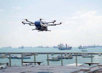 空客启动新无人机运输和交付试验,会将包裹存放在停泊在海上的船上