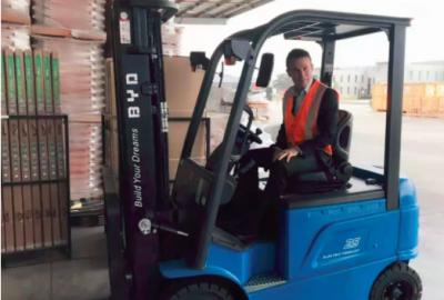 比亚迪电动叉车获Eforklift百台订单 打入澳大利亚市场