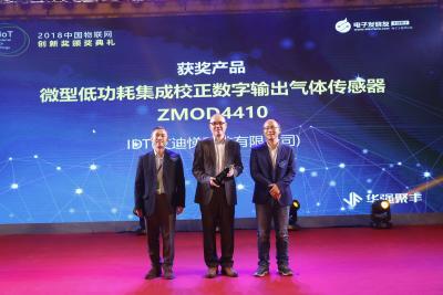 IDT气体传感器ZMOD4410广受认可,获行业创新奖