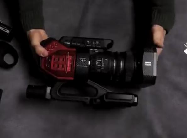松下DVX200上手拆箱,专业4K摄像机