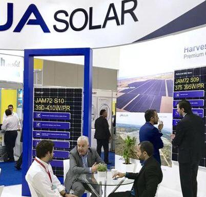 晶澳高效光伏组件亮相墨西哥太阳能展