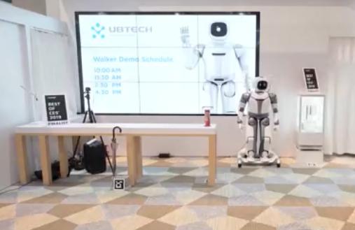 优必选Walker新一代亮相,大型仿人服务机器人逐渐步入家庭